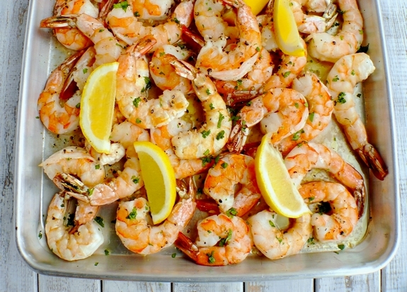 Buttery Sheet Pan Garlic Shrimp
