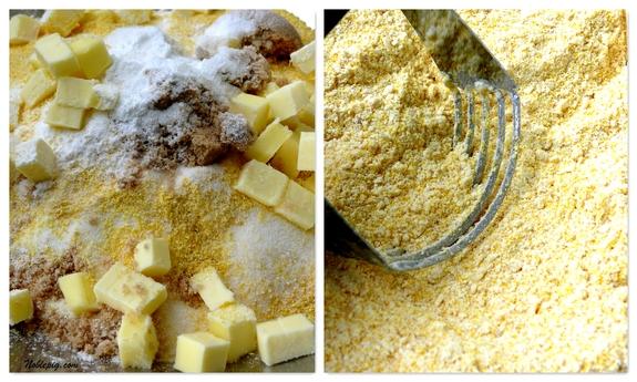 In a large bowl combine flour, cornmeal, granulated sugar, brown sugar ...