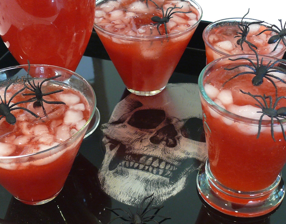Blood red punch noble pig for Halloween alcoholic punch bowl recipes
