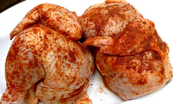 how to grill a whole chicken cut in half