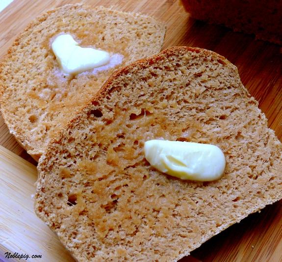 Honey Whole Wheat Bread | Noble Pig