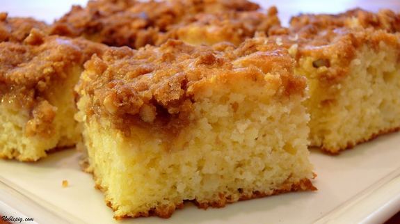 classic coffee cake owes its extra-moist texture to the sour cream ...
