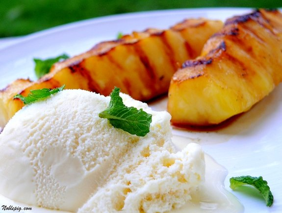 Rum-Glazed Pineapple With Toasted Coconut And Vanilla Ice Cream ...