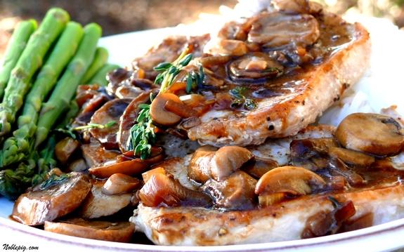 Pork Chops Marsala | Noble Pig