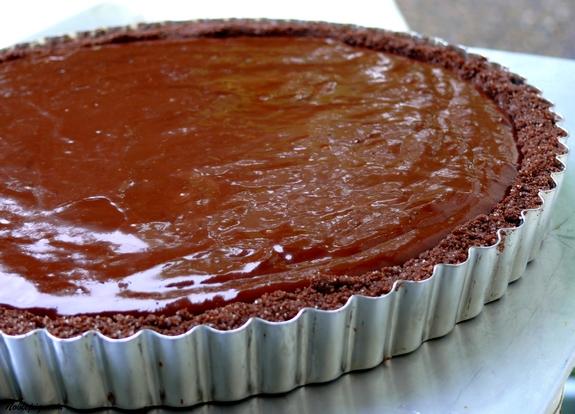 Chocolate-Glazed Chocolate Tart | Noble Pig