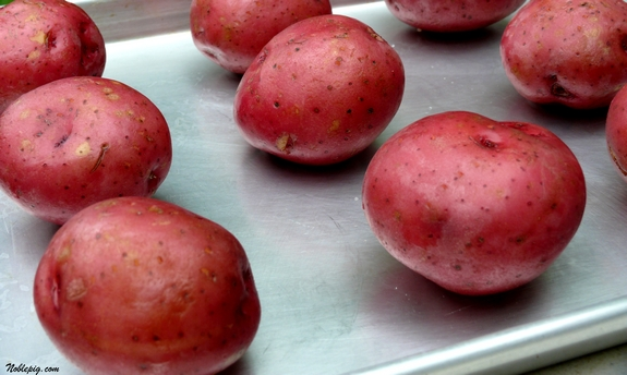 Preheat Oven To 450o F Scrub Potato Skins And Pierce Each Potatowith A Fork Several Times Placepotatoes On A Baking Tray 1 2 Apart