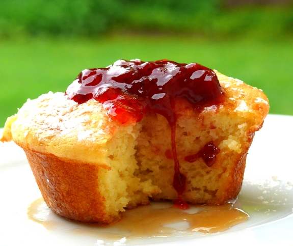 Pancake Souffle Muffins with Spiced Strawberry Pinot Jam ...