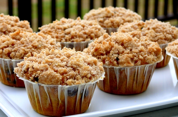 Streusel-Topped Pumpkin Chocolate Chip Muffins | Noble Pig