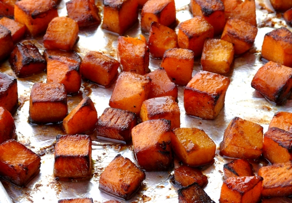 Roasted Brown Sugar-Five Spice Butternut Squash | Noble Pig