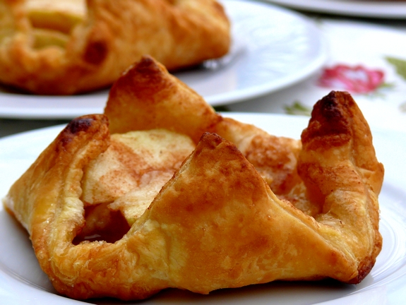 Individual Puff Pastry Apple Tarts with Almond & Cinnamon