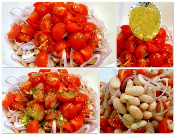In a large bowl, combine the cannellini beans, 1 cup diced tomato and ...