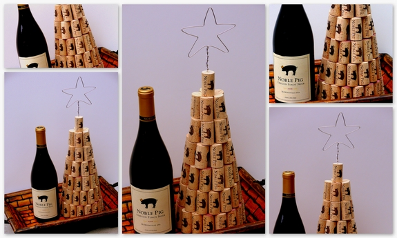 How to make a wine cork christmas tree noble pig for How to make a wine tree