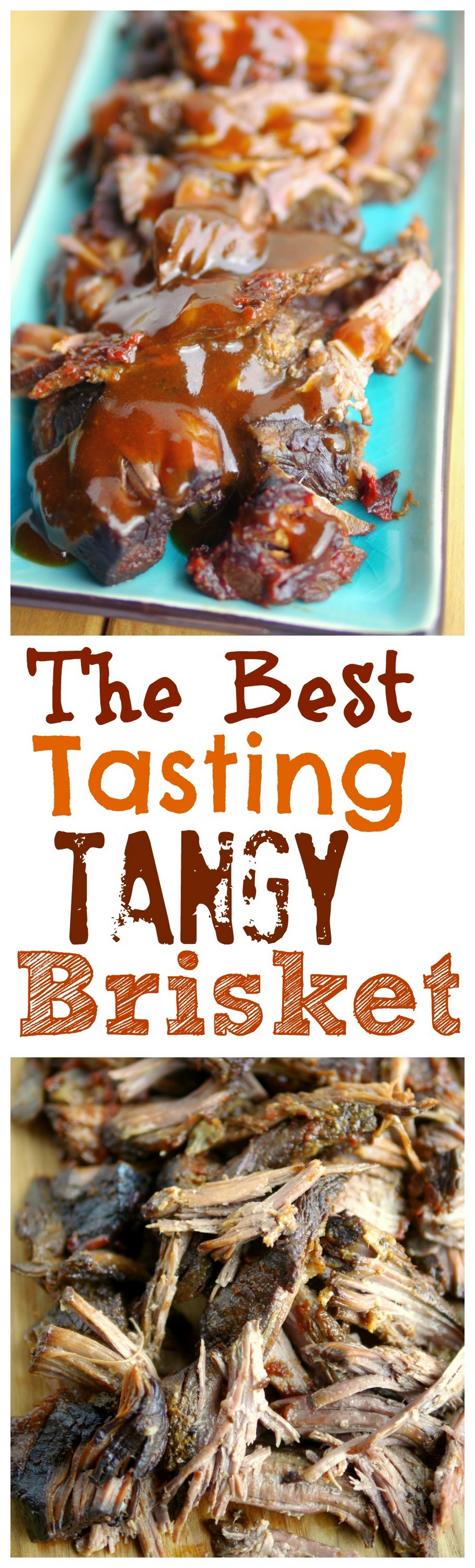 VIDEO + RECIPE: The Best Tasting Slow Cooker Tangy Brisket Recipe will become a family favorite for years to come. The fork-tender, melt in your mouth meat and mouthwatering sauce are a true example of what brisket is supposed to taste like. #noblepig #slowcooker #slowcookerbrisket #beef #easydinners