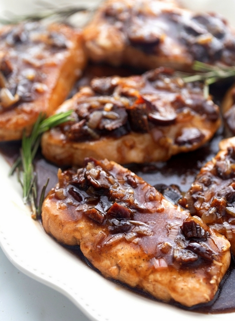 pork chops and balsamic fig sauce