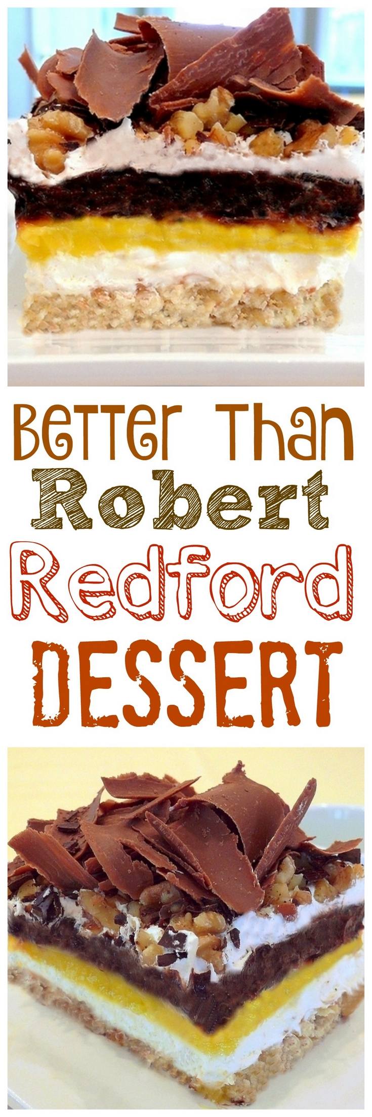 VIDEO + RECIPE: This sinfully delicious, 4-layer, no-bake cake is officially known as Better than Robert Redford Dessert from NoblePig.com. via @cmpollak1