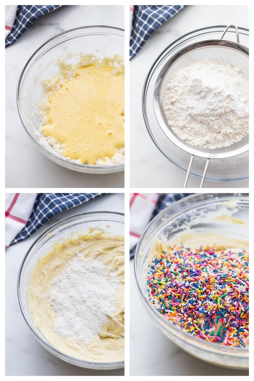 making funfetti cupcakes