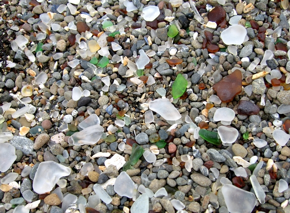 California Travel Visiting Glass Beach Mendocino California