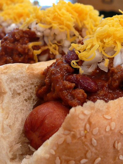 Tantalizingly Tangy Chili-Cheese Dogs