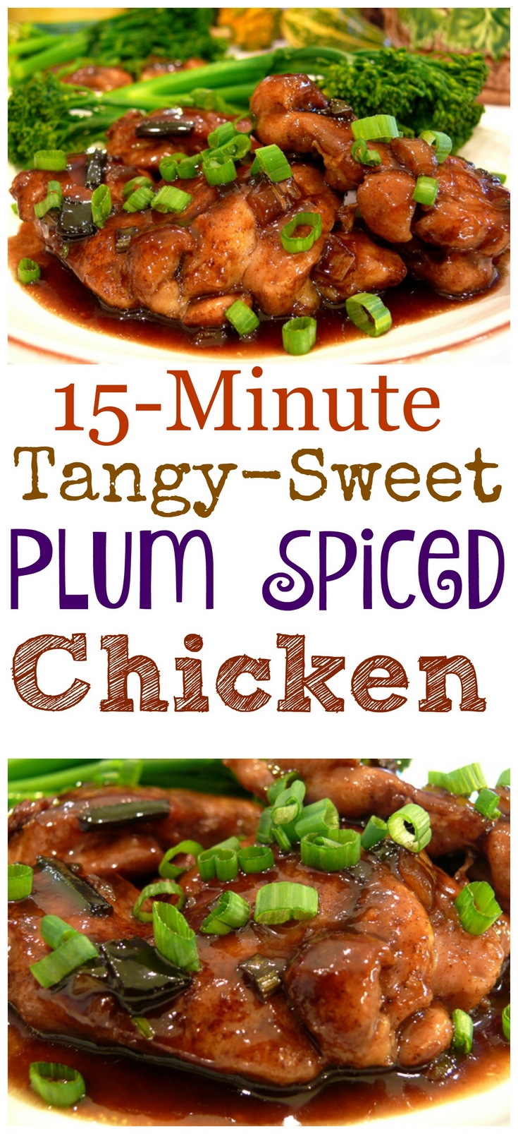 VIDEO + Recipe: The dish my kids beg me to make again and again, this 15-Minute Tangy-Sweet Plum-Spiced Chicken has been a family favorite for years. It's the perfect meal to make when you are short on time in the kitchen. from NoblePig.com. via @cmpollak1