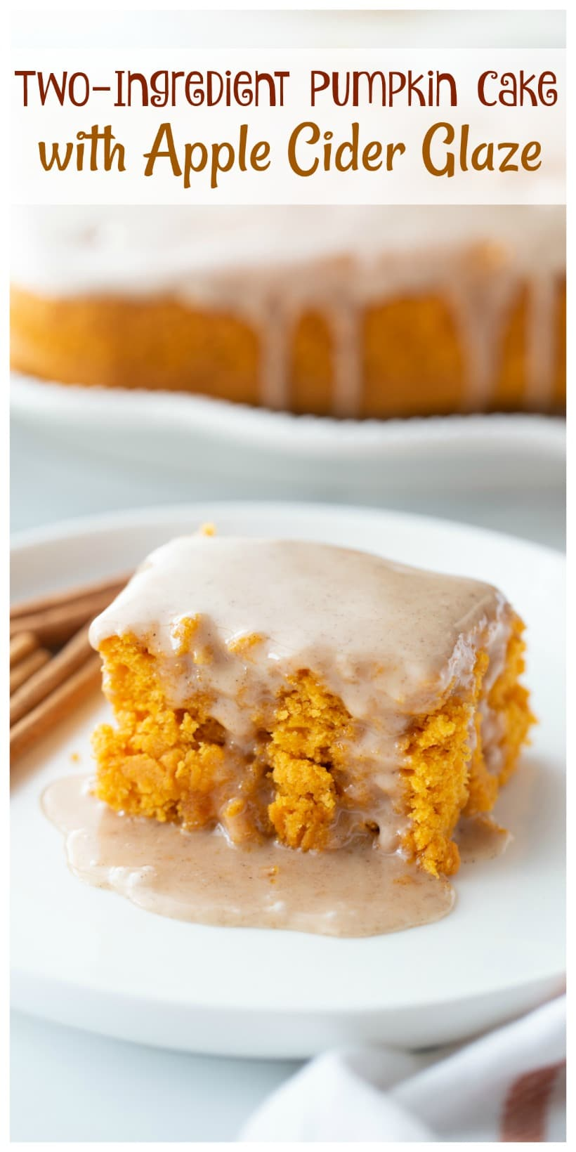 Canned pumpkin with yellow cake