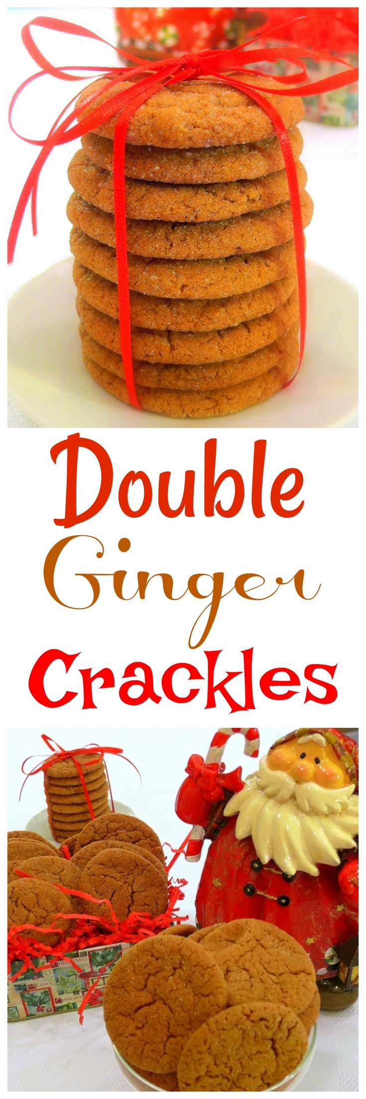 A double whammy of ginger, ground and crystallized in these delicious Double Ginger Crackles. They are perfect for a holiday cookies tray or for snacking year round, from NoblePig.com. via @cmpollak1