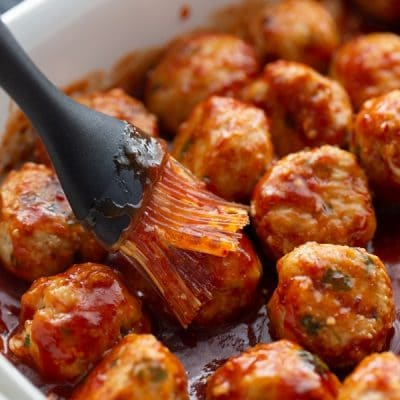 meatballs with chipotle sauce