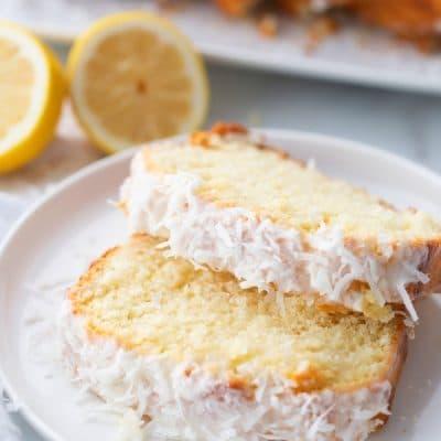 lemon and coconut loaf