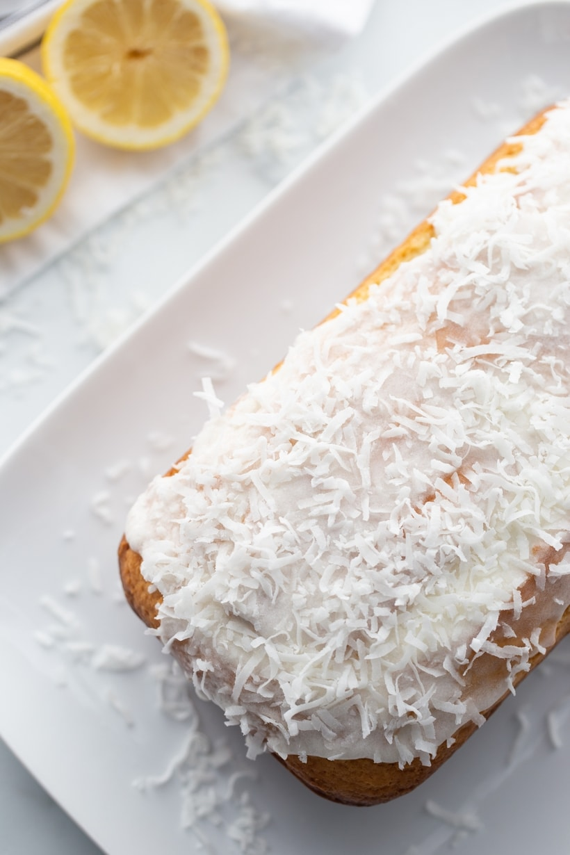 lemon coconut snacking cake