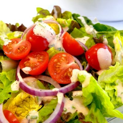 Green Salad with Smoky Buttermilk Ranch Dressing