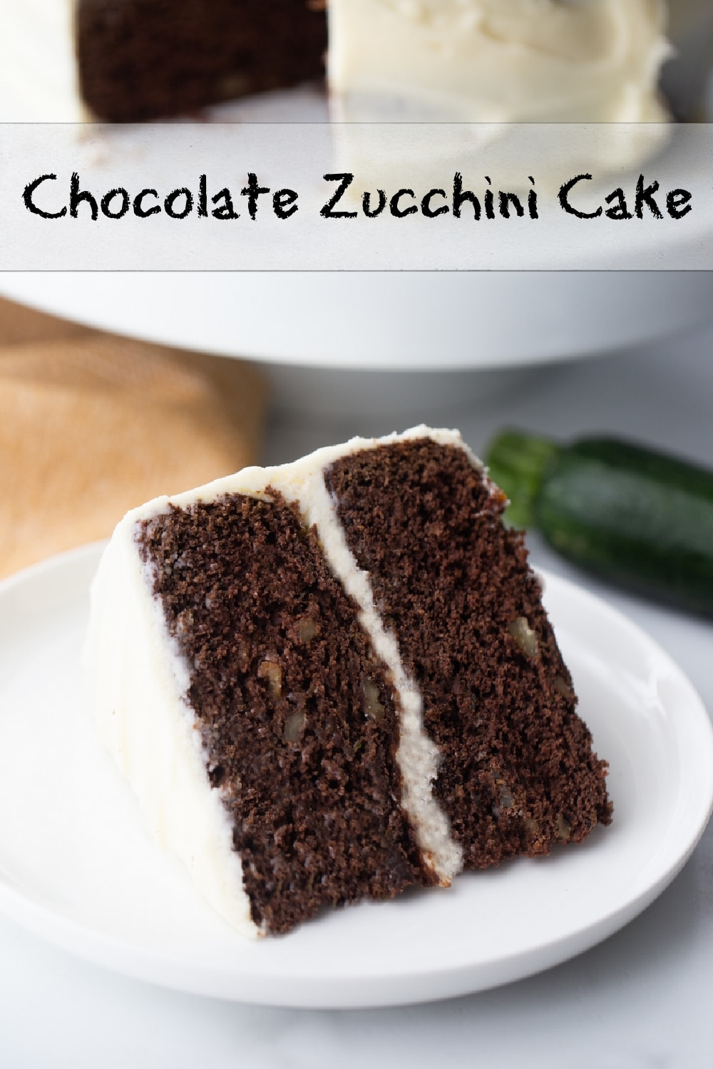 Indulgent and tender Chocolate Zucchini Cake with a great texture and a hint of orange dancing in the background. via @cmpollak1