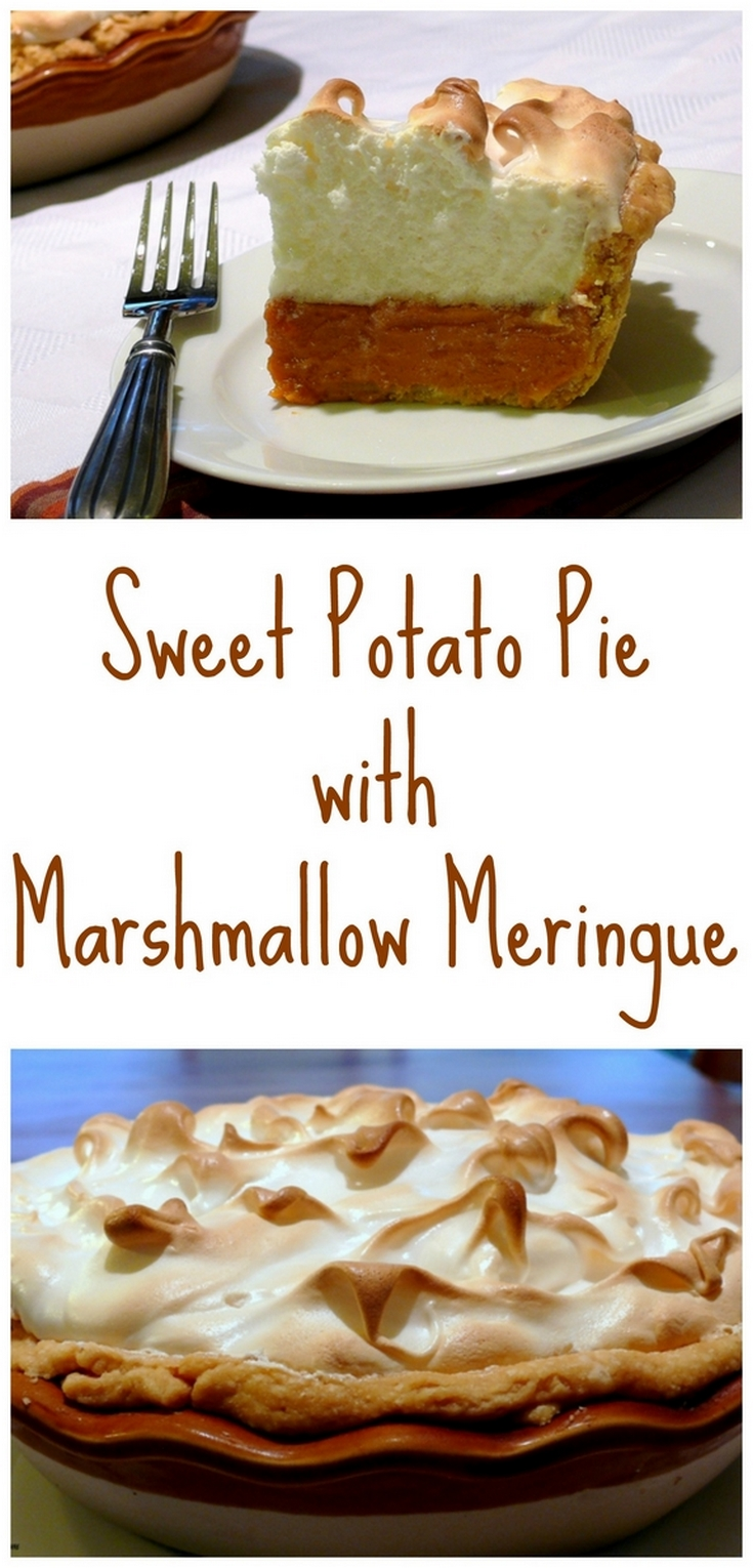 VIDEO + RECIPE: If you've never tried Sweet Potato Pie with Marshmallow Meringue you are really missing out! It's creamier than pumpkin pie and it couldn't be more enjoyable to eat from NoblePig.com. via @cmpollak1