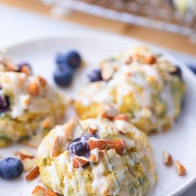 Cornmeal Blueberry Scones
