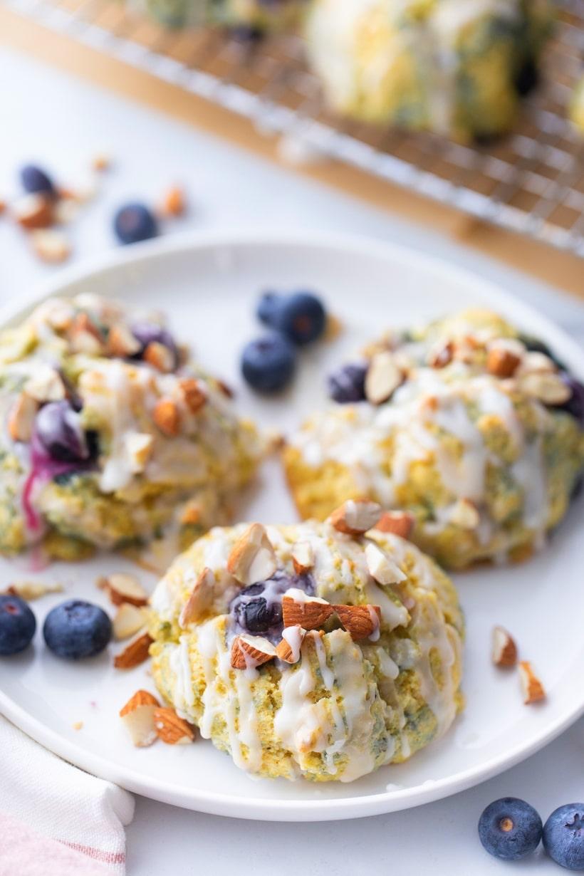 blueberry corn scones