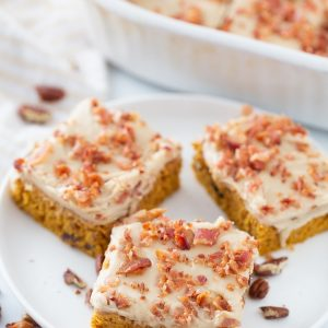 Pumpkin bacon bars