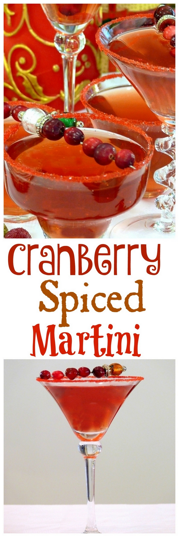 Cranberry Spiced Martini Cocktail
