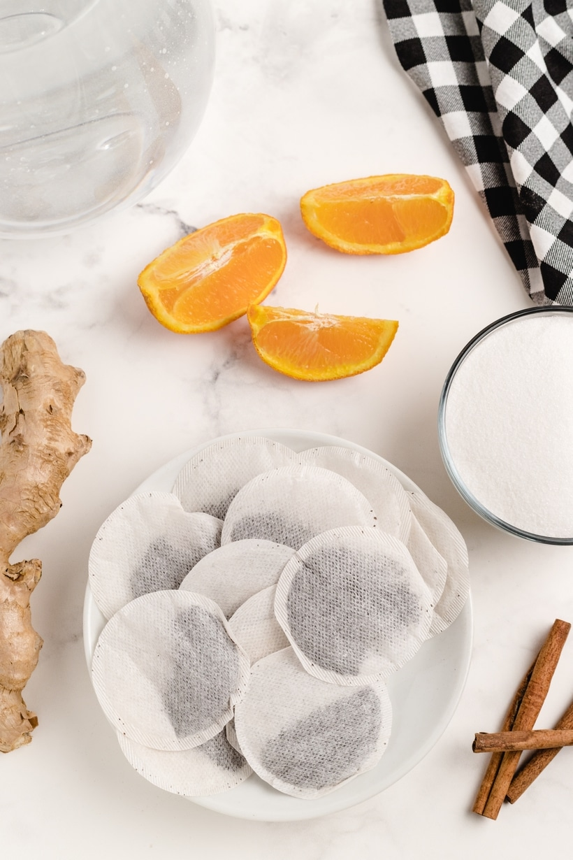 Ingredients for iced tea
