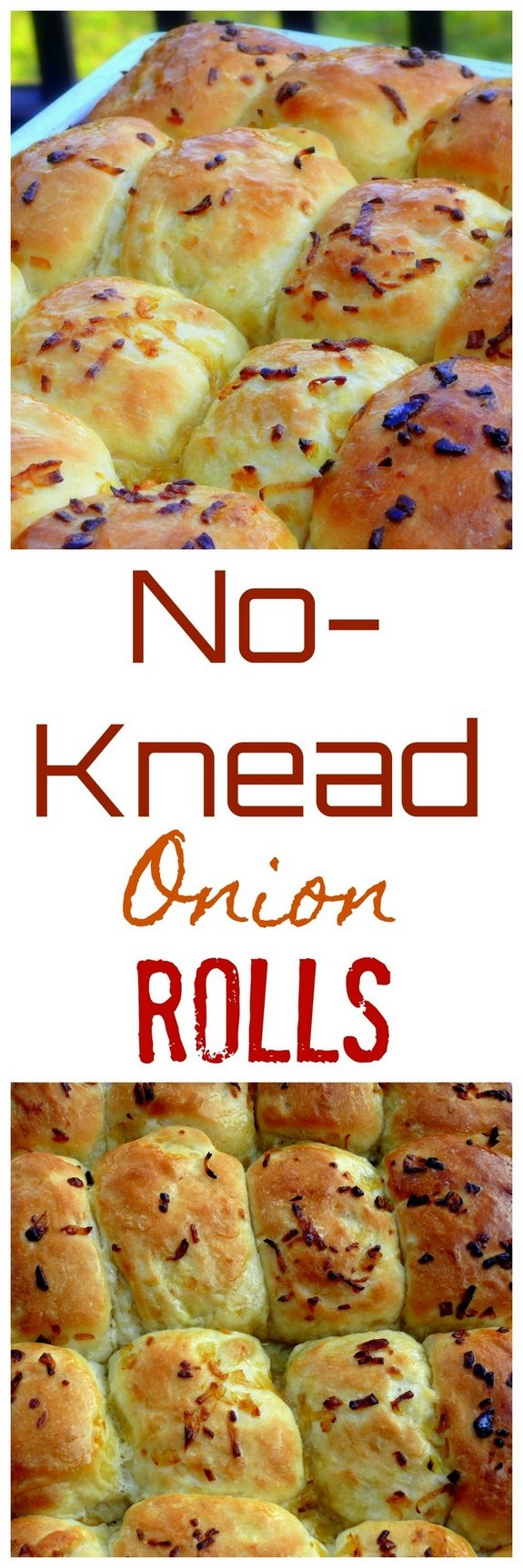 VIDEO + RECIPE: Soft and airy, these No-Knead Onion Rolls are the perfect addition to any dinner or lunch menu. It couldn't be easier than making the dough, letting it rise and shaping into balls for the oven. They make perfect slider buns too, from NoblePig.com.