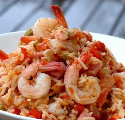 Jambalaya with Shrimp and Ham