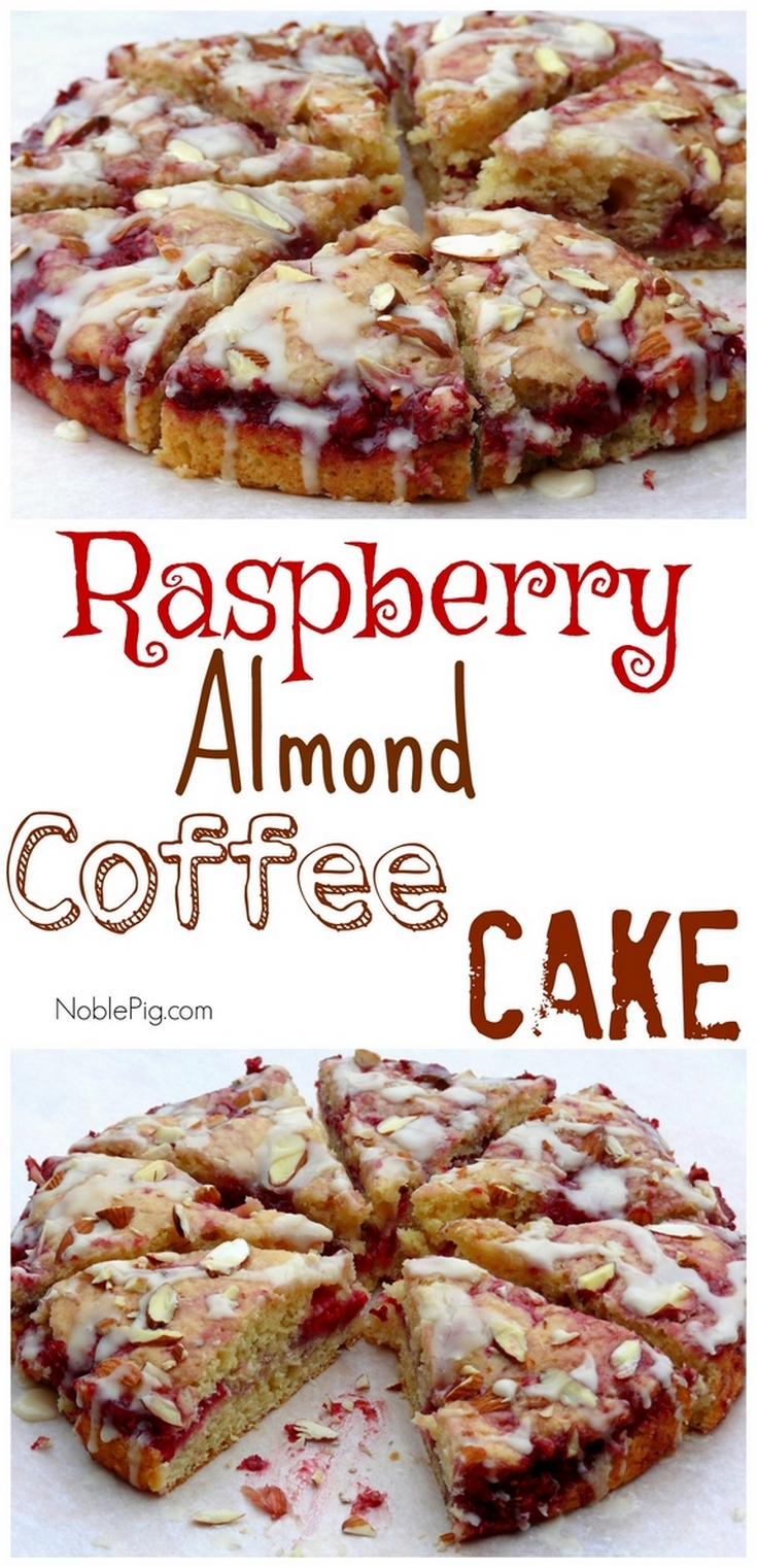 Video + Recipe: The perfect brunch addition, this Raspberry Almond Coffee Cake will have everyone looking for a second slice. via @cmpollak1