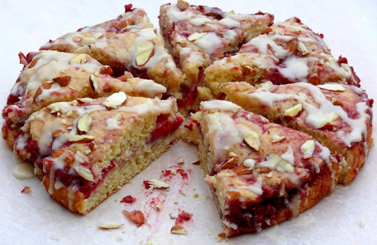 Raspberry Almond Coffee Cake Noble Pig