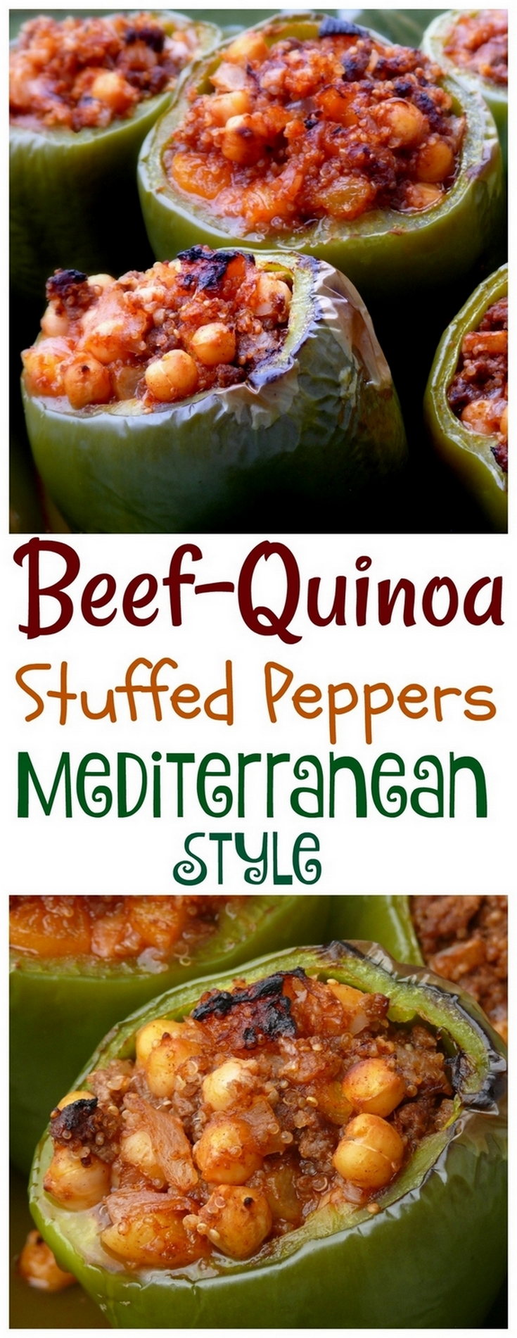 VIDEO + RECIPE: Stuffed to the brim with Mediterranean flavors, these Beef-Quinoa Stuffed Peppers bring a new twist to the dinner table. They make great leftovers too from NoblePig.com. via @cmpollak1