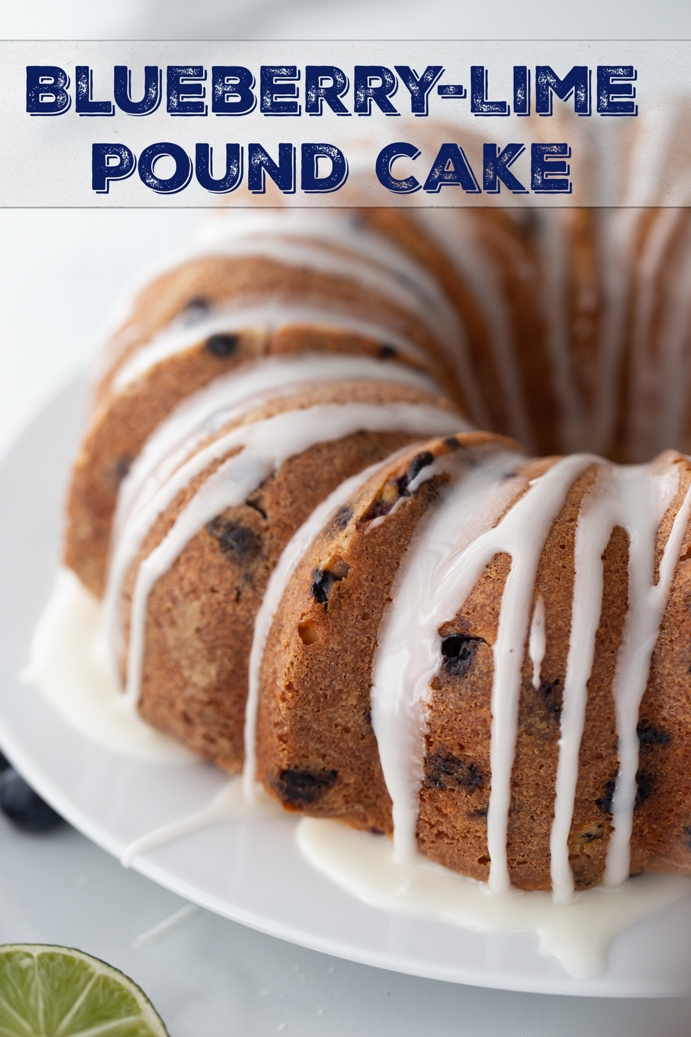 Blueberry pound cake drizzled with a tangy lime glaze - a zippy-sweet dessert, with an exceptionally tender and rich cake. An absolute flavor powerhouse! via @cmpollak1
