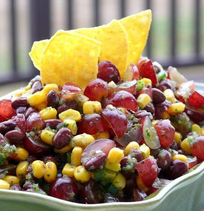 Grape, Corn & Black Bean Salsa