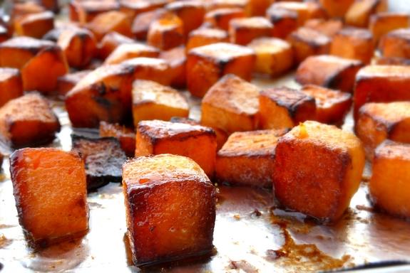 Roasted Brown Sugar-Five Spice Butternut Squash