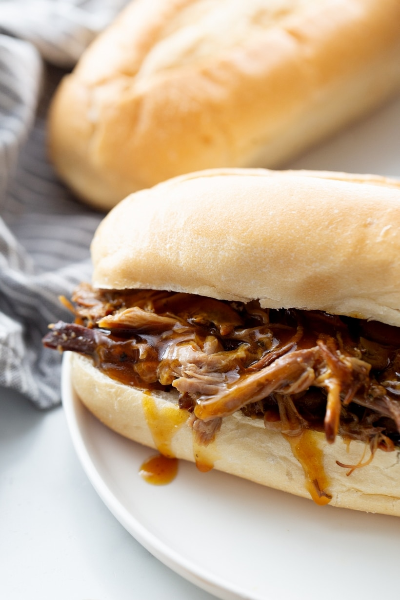 Pulled pork sandwich.
