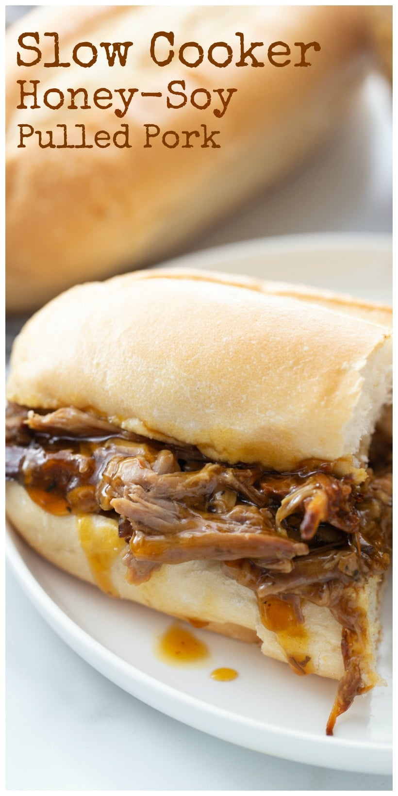 This Slow Cooker Honey-Soy Pulled Pork yields high returns for minimal effort. The pork is slow cooked in a mixture of sweet, salty and tangy ingredients until it pulls apart effortlessly. via @cmpollak1