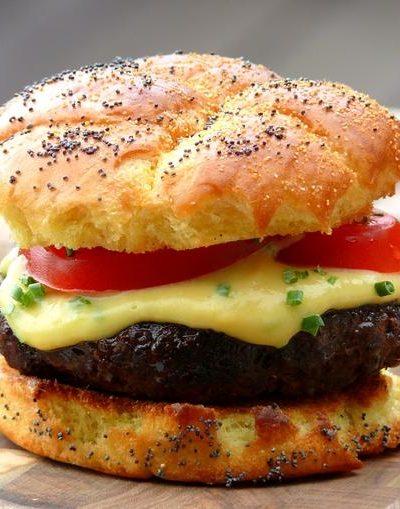 Beer-Cheese Burger
