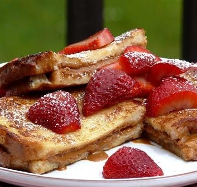 Biscoff Stuffed French Toast