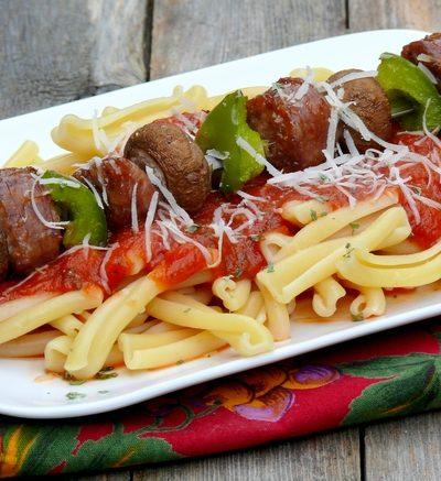 Sausage-Pasta Kabobs