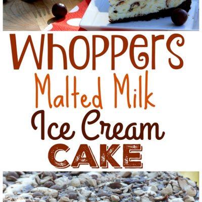 Whoppers Malted Milk Ice Cream Cake